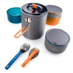 Camping pots and utensils