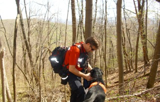 Search and Rescue K9 with Handler